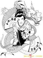 hình xăm geisha 10