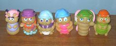 Vintage Gloworms Glo Friends Hasbro Playskool Lot Of 6 Glow In The Dark Bugs #Hasbro
