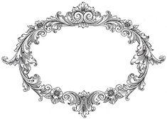 Free vintage frame clip art from the graphics fairy vintage