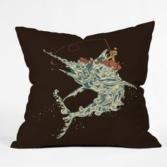 Budi Kwan Cold Blooded Ocean Outdoor Throw Pillow | DENY Designs Home Accessories