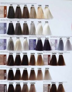 Matrix Hair Color Chart, Matrix Color, Tassel Necklace, Hair Colors, Hair Styles, Student, Beauty, Coloring, At Home Workouts