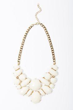 Fabulous ivory statement necklace #ccstyle Charming Charlie Renaissance at Colony Park 601.605.2105 #shoprenaissance