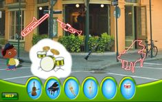 Quincy and the Magic Instruments- site for students to learn about music and instruments