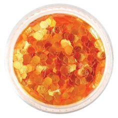 "3MM/.094"" – Iridescent Orange Hexagon Glitter #glitties #glitter Cosmetic Grade Glitter, Orange Glitter, Arts And Crafts Projects, Iridescent, Food, Essen, Meals, Yemek, Eten"