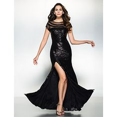 TS+Couture+Formal+Evening+Dress+-+Sparkle+&+Shine+Trumpet+/+Mermaid+Scoop+Floor-length+Sequined+with+Sequins+–+GBP+£+131.99