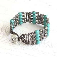 Turquoise Macrame Bracelet - Green Bracelet - Turquoise Cuff - UK Seller -  Boho Chic - Gift for Women, Girlfriend