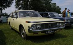 1973 Toyota Crown 2600 Custom station wagon Classic Motors, Classic Cars, Toyota Crown, Old School Cars, Japan Cars, Station Wagon, Granada, Motorhome, Camper