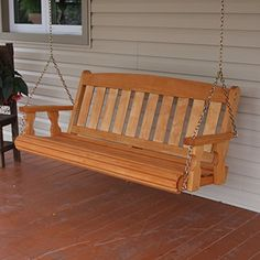 Amish Heavy Duty 800 Lb Mission Treated Porch Swing Cedar Stain * Find Out  More About The Great Product At The Image Link.