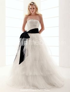 $299.99. Very  similar to Eliza dress I love, and belt comes in different colours, but worried the real thing doesn't look quite the same??? Cheap Wedding Dresses Online, Satin Tulle, Different Colors, One Shoulder Wedding Dress, Ball Gowns, Colours, Belt, Fashion, Ballroom Gowns