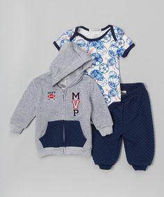 Gray MVP Hoodie Set - Infant