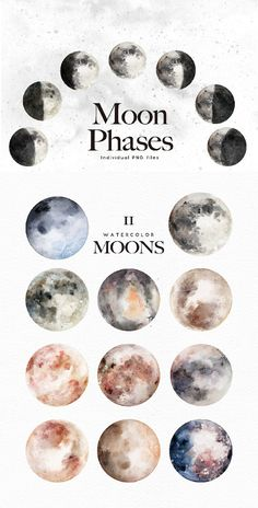 Watercolor Moons Bonus/space/galaxy