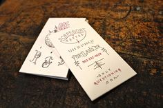 Acorn house business card graphic design business cards letterpress printers combining award winning skills of custom design printing illustration based in portland oregon reheart Image collections