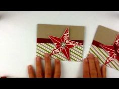 Stampin'Up Q is for Quick Christmas cards with the Christmas Star!