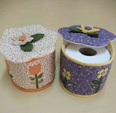 porta rollo Sewing Projects For Beginners, Diy Projects, Kleenex Box, Covered Boxes, Bad, Diy And Crafts, Decorative Boxes, Homemade, Quilts