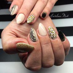 Animals print #nailstagram #naildesign #nailsdid #leopardprint #nail #nails #nailart #nailsdid #pazurki #paznokcie #paznokietki #pantera #zebraprint #zebra