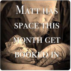 Matt is taking booking call us on: 0208 676  1333