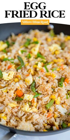 Learn how to make Fried Rice the easy way with this simple Egg Fried Rice Recipe. Just a few ingredients and packed with flavor for a quick and easy dinner. Fried Rice With Egg, Making Fried Rice, Vegetable Fried Rice, How To Make Fried Rice Recipe, How To Fry Rice, Korean Fried Rice Recipe, Egg Fried Rice Recipe Easy, Teriyaki Fried Rice Recipe, Chinese Egg Fried Rice