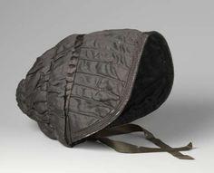 Poke bonnet (capote), anonymous, c. 1805 - c. 1815 - Rijksmuseum
