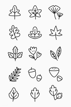 Easy Doodle Tutorials Show You How to Draw a Wide Array of Subjects Bullet Journal Writing, Bullet Journal Ideas Pages, Bullet Journal Inspiration, Bullet Journal Leaves, Doodle Drawings, Easy Drawings, Easy Flower Drawings, Autumn Doodles, Leaves Doodle
