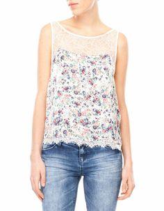 Floral- lace top
