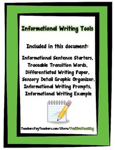 Sentence Frames For Informational Writing Graphic Organizers