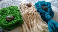 Bufandas cuellos con madera de coco
