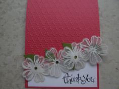 Stampin' Up! Flower Shop with vellum and heat embossing