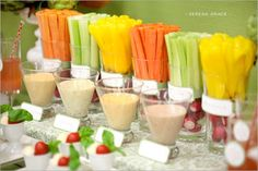Mesa de frutas y verduras