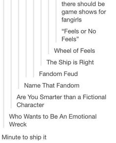 Game shows for fangirls...
