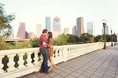 Houston Engagement Photographer | Discovery Green Houston Engagement Photos: Anna & George | Kreative Angle Photography - Houston Wedding Ph...