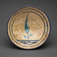 Iran probably Kashan Bowl with Tree and Fish-Pond Motif, century Fritware with in-glaze painting in blue and turquoise and overglaze painting in luster x cm x 3 in. Ancient Persia, Ancient Art, Ancient History, Islamic Paintings, Turquoise Art, Persian Culture, Iranian Art, Art Institute Of Chicago, Pottery Art
