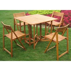 @Overstock - The Royal Tahiti Folding Outdoor Dining Set offers convenience and portability with a folding, compact storage design. This outdoor furniture set is built with sustainable yellow balau hardwood.http://www.overstock.com/Home-Garden/Royal-Tahiti-Galveston-5-piece-Stowaway-Outdoor-Dining-Set/6570268/product.html?CID=214117 $399.99