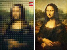 Publicité Lego - Œuvres d'art