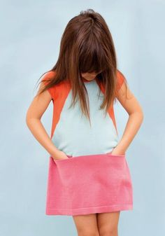 colorblocking little girls dress - Playtime Paris, AYMARA