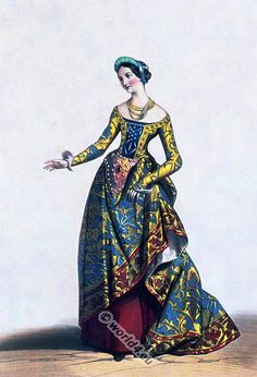 French Lady in the time of Charles VII. (1403-1461).