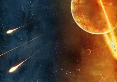 outer space stars galaxies planets artwork