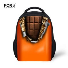 Lovely Kid's Small Backpack Baby Boys Girls Chocolate Donuts Mini School Bags Breathable Soft Children School Backpacks 12 inch  #upcube