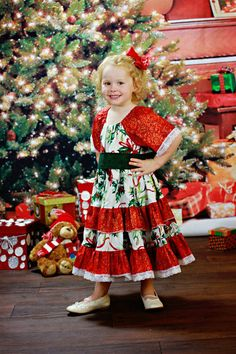 Vintage style Lace trimmed Christmas dress by Bootleglaceboutique, $52.00