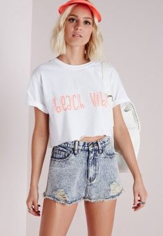 Beach Vibes T Shirt White