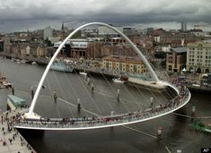 Really stunning - Gateshead Millennium Bridge -- England - a wonderful bridge just for walking....
