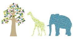 So fun! Vintage wallpaper silhouettes for the kids' room.