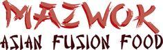 MAZWOK l Restaurante de comida asiática fusión. Wontons, Calligraphy, Food, Calligraphy Art, Meals, Hand Lettering Art