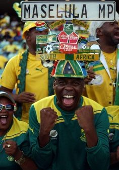 Bafana Bafana supporter | South African brand pop culture | Castle, ABSA, Puma | Source: http://pinterest.com/pin/70437466278136/