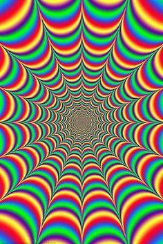Eye Illusions, Cool Optical Illusions, Art Optical, Hippie Wallpaper, Trippy Wallpaper, Retro Wallpaper, Optical Illusion Wallpaper, Fractal Art, Fractals