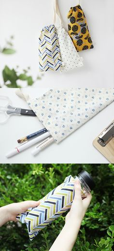Very useful! This long-shape pouch with modern design can be used for various purpose.