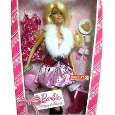 NEW Barbie Happy Holidays Xmas Doll 2010 Target Exclusive T4316 Sealed Gift Idea #Mattel #DollswithClothingAccessories