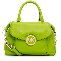 michael kors neon purses | Michael By Michael Kors Large Fulton Pebbled Leather Satchel Bag in