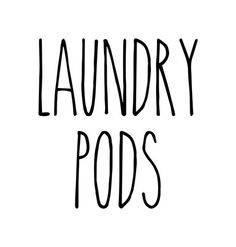 Laundry Pods - Rae Dunn Inspired Vinyl Sticker - Laundry Room Home Organization Farmhouse - Die Cut Decal Pantry Organization Labels, Home Organization, Tide Pods Container, Laundry Labels, Reuse Containers, Laundry Pods, Fish Lamp, Static Cling, Free Prints