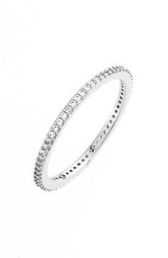 Nadri Skinny Cubic Zirconia Pavé Band Ring available at #Nordstrom