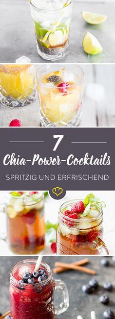 Wie wäre es dann mal mit spritzigen, erfrischenden Cocktails, mit dem einzigartigen Chia-Kick? Die mussten in der Versuchsküche getestet werden. Und es hat sich gelohnt: Diese 7 Power-Cocktails mit Chia sind genial für den Sommer und ein echter Trinkspaß für die nächste Feierei. Wirklich faszinierend, wie man sich über kleine glibberige Körnchen im Glas so freuen kann.